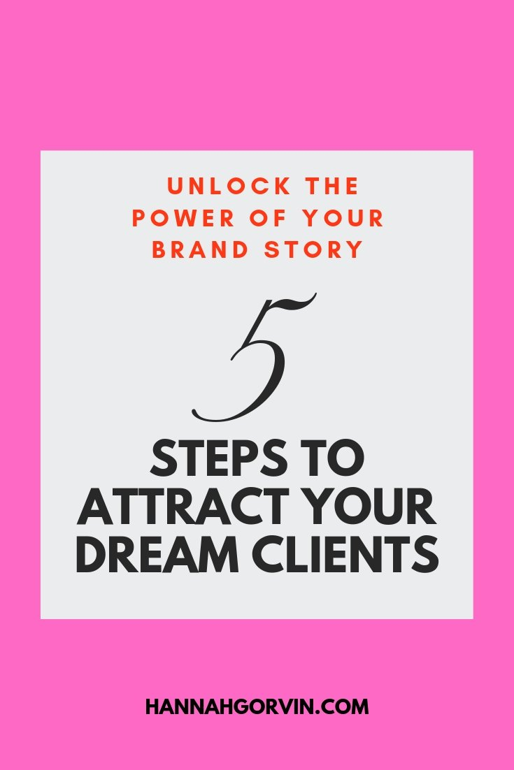Hannah Gorvin 5 Steps To Attract Your Dream Clients